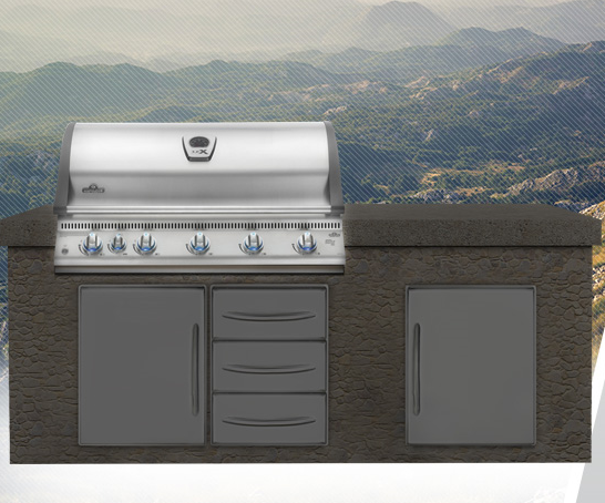 Outdoor Cooking & Eating Napoleon Built-in Lex 730 With Infrared Bottom And Rear Burners Bbq Grill Head