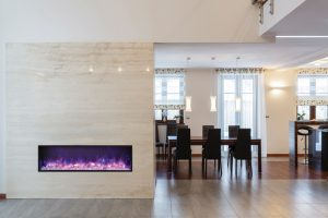 Grand design – Fireplace and dining room
